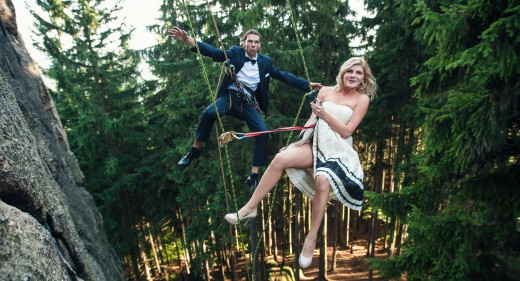 Wspinaczkowy Plener ślubny