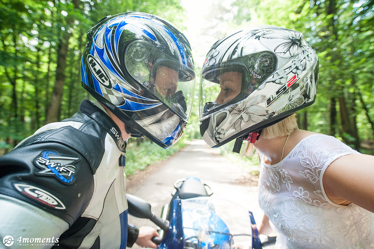 motocyklowy plener slubny